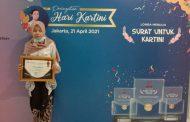 Shelvy Eightiarini, Difabel Netra Juara Lomba Menulis Surat untuk Kartini Kementerian Kominfo 2021