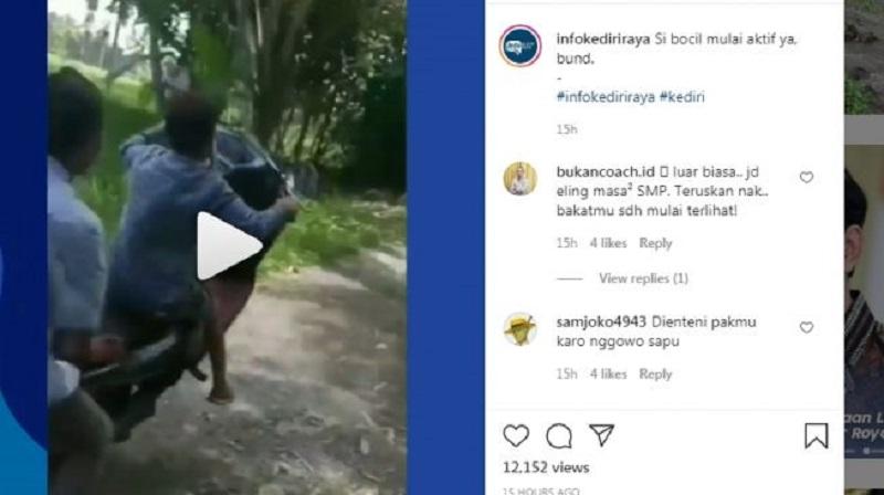 Bocil Naik Motor Ngegas Loncat Nyemplung Empang, Prihatin!