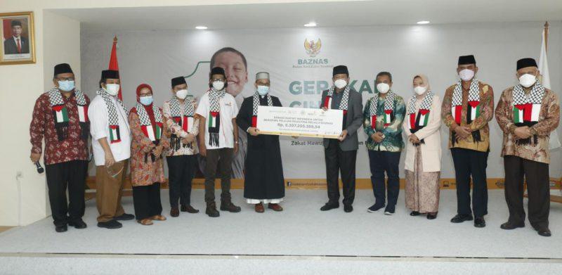 UAH Salurkan Donasi Rakyat Indonesia untuk Beasiswa Pelajar Palestina Rp 6,3 M ke BAZNAS