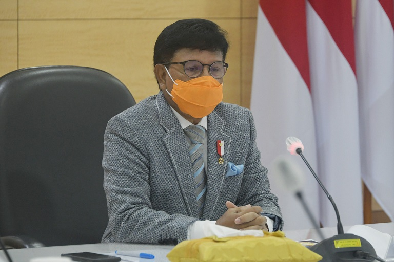 Tingkatkan Sinergitas, Menteri Johnny: Pemerintah Percepat Distribusi Bansos