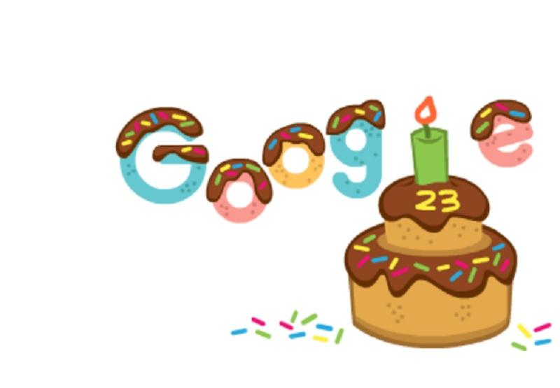 Mesin Pencari Google Ultah Ke-23, Bikin Doodle Kue Cokelat